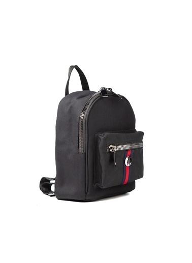 TH Bags TH Bags 2THCW2020013 Suni Deri 2 Bölmeli Unisex Sırt Çantası Siyah